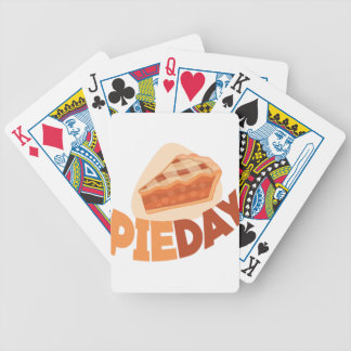 23rd January - Pie Day - Appreciation Day Bicycle Playing Cards