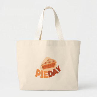 23rd January - Pie Day - Appreciation Day Large Tote Bag