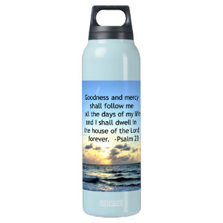 23RD PSALM SUNRISE PHOTO DESIGN INSULATED WATER BOTTLE