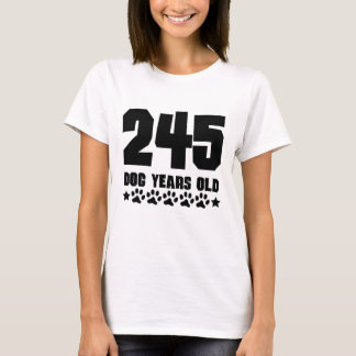 245 Dog Years Old Funny 35th Birthday T-Shirt