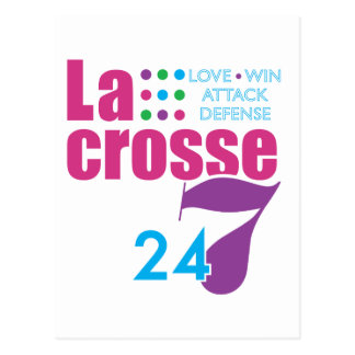 24/7 Lacrosse Postcard