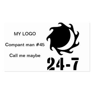 24 - 7 Twentyfour seven Business Card Template
