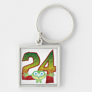 24 Age Ghoul Silver-Colored Square Key Ring