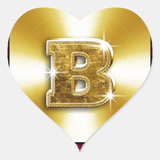 24 Carat b.jpg Heart Sticker