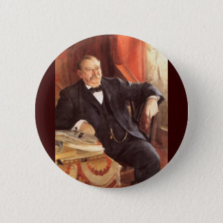 24 Grover Cleveland1 6 Cm Round Badge