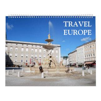 24 month Travel Europe Calendar