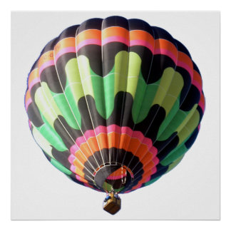 """24"""" x 24"""", Value Poster Paper Hot air Balloon"""