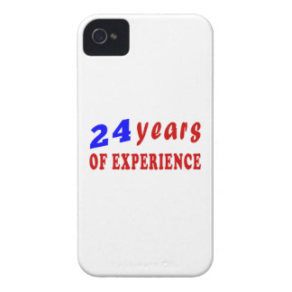 24 years of experience iPhone 4 case