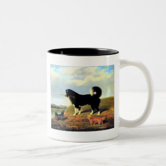 24b  Spaniel and 2 Norfolk Terriers Two-Tone Coffee Mug