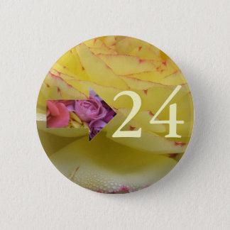 24th Birthday 6 Cm Round Badge