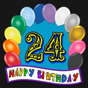 24th Birthday Balloon Arch T Shirt