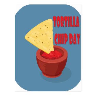 24th February Tortilla Chip Day - Appreciation Day Postcard