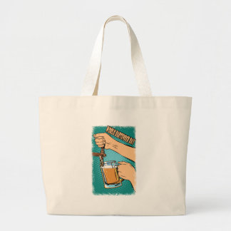 24th February - World Bartender Day Large Tote Bag