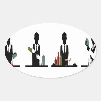 24th February - World Bartender Day Oval Sticker