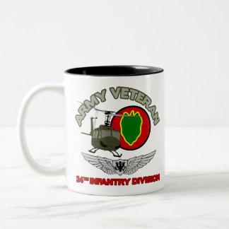 24th ID Huey w/ Wings Two-Tone Coffee Mug