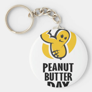 24th January - Peanut Butter Day Basic Round Button Key Ring