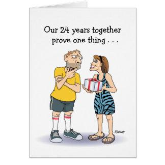 24th Wedding Anniversary Card: Love Card
