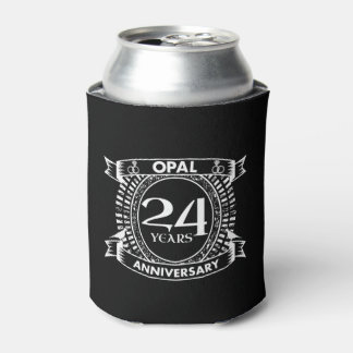 24TH wedding anniversary opal Can Cooler