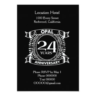 24TH wedding anniversary opal Card