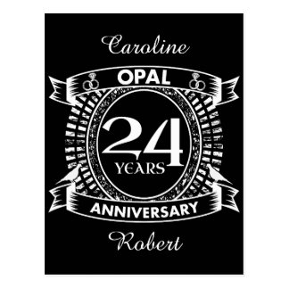 24TH wedding anniversary opal Postcard