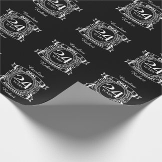 24TH wedding anniversary opal Wrapping Paper
