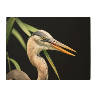 24x18 Great Blue Heron Wood Wall Art