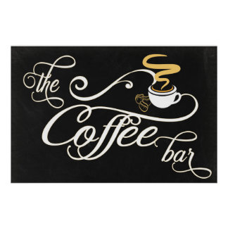 24x36 Chalkboard Coffee Bar Sign
