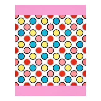 252__shellfish-paper-circles COLORFUL FUN POLKADOT Custom Flyer