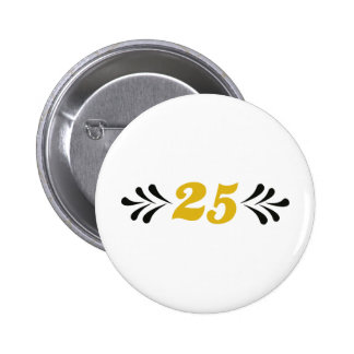 25 anniversary button