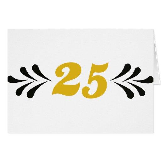 25 anniversary greeting cards
