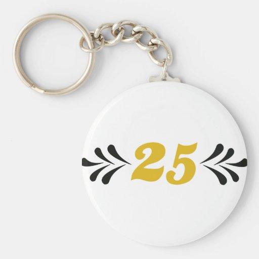 25 anniversary keychain