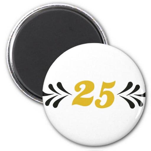 25 anniversary fridge magnet