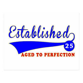 25 Birthday Aged To Perfection Postcard