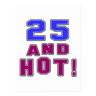 25 birthday designs postcard