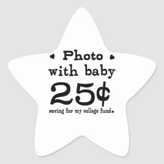 25 Cents Photo With Baby Star Sticker