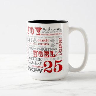 25 Days Of Christmas Two Tone Coffee Mug