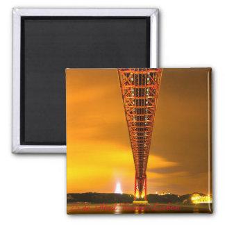 25 de Abril Bridge in Lisbon 2 inch Square Magnet