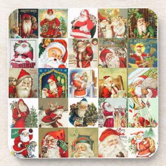 25 Different Santas #2 Coaster Set of 6