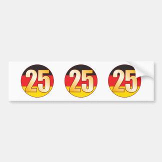25 GERMANY Gold Bumper Sticker