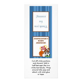 25 Lollipop Topper All Star Blue Rack Card Design