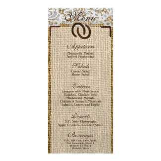 25 Menu Cards Horse Shoes on Burlap Lace Country 10 Cm X 23 Cm Rack Card