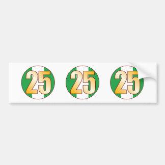 25 NIGERIA Gold Bumper Sticker