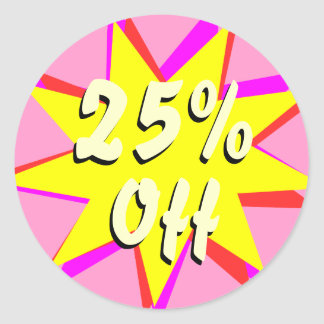 25% Off Retail Sale Stickers