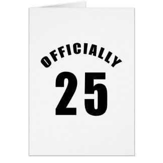 25 Officially Design Card