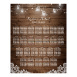25 Tables Rustic String Lights Seating Chart