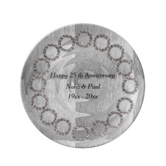 "25 th Anniversary 8.5"" Decorative Porcelain Plate"