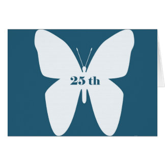 25 th anniversary  Butterfly greeting card