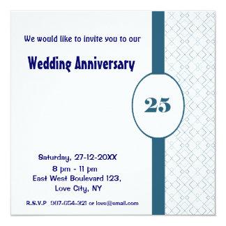 25 th Wedding Anniversary Party Invitation