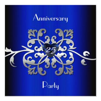 """25 Wedding Anniversary Party Invitation 5.25"""" Square Invitation Card"""