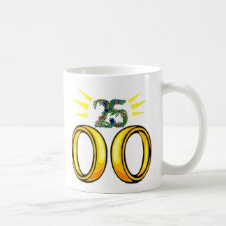 25 wedding anniversary t mugs
